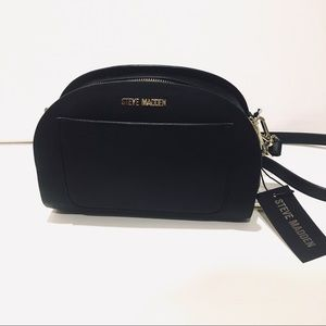 Steve Madden black Crossbody goldtone bag